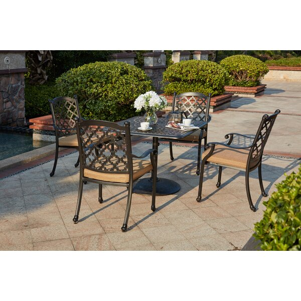 Waconia 5 Piece Dining Set with Cushions by Darby Home Co