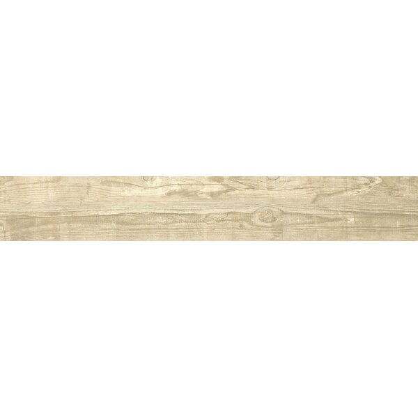 Salvage 6 x 40 Porcelain Wood Tile in Glazed Honey by MSI