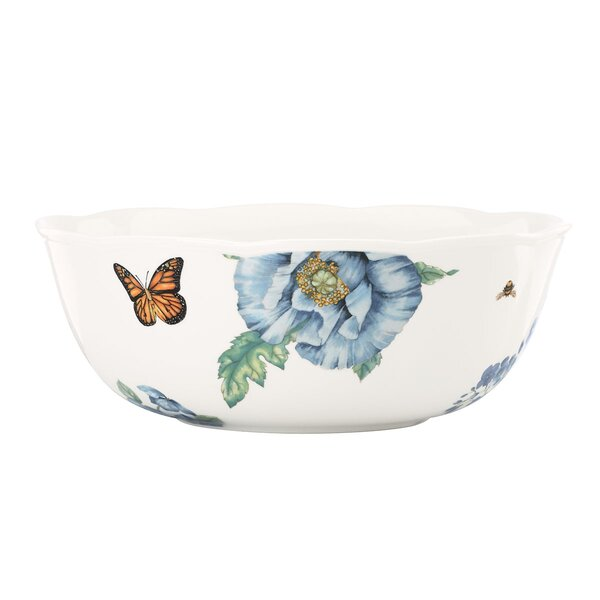 Butterfly Meadow Blue Serving Bowl by Lenox