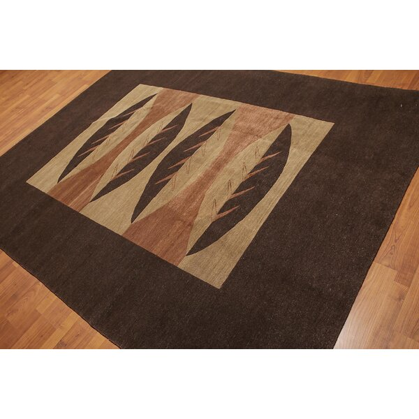 One-of-a-Kind Mast Hand-Knotted Wool Chocolate Brown Area Rug by Red Barrel Studio
