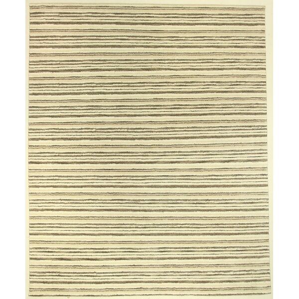 One-of-a-Kind Coreen Hand-Knotted Wool Beige Area Rug by Isabelline