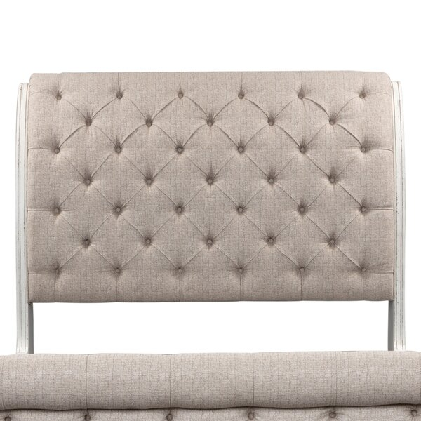 Treport Upholstered Sleigh Headboard by One Allium Way