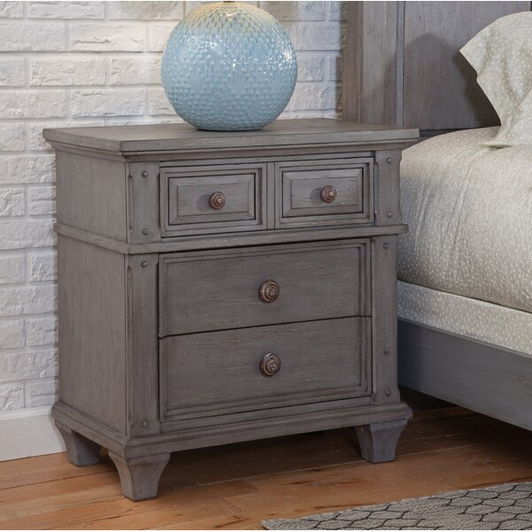 Dorinda 3 Drawer Nightstand by One Allium Way