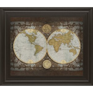 'World Map' Framed Graphic Art by Three Posts