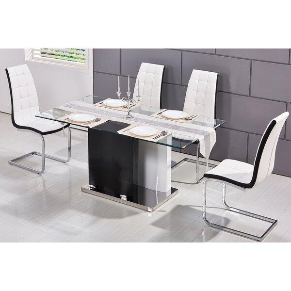 Kingsdown Modern Glass Dining Table by Orren Ellis Orren Ellis