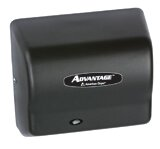 Advantage Standard 100 - 240 Volt Hand Dryer in Black by American Dryer
