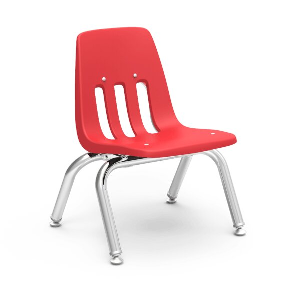 9000 Series 10 Plastic Classroom Chair (Set of 4) by Virco