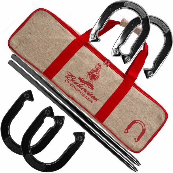 Budweiser Horseshoe Set with Carry Case by Trademark Games