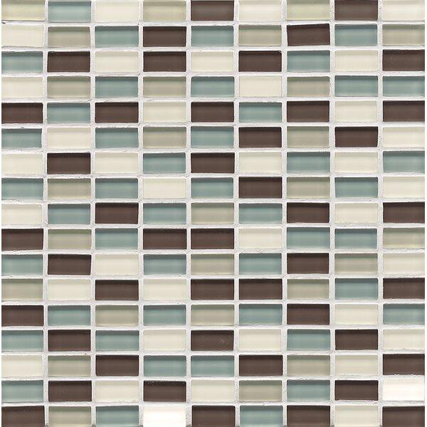 Harbor Glass Mosaic Mini Brick Blend Gloss Tile in Oceanside by Grayson Martin