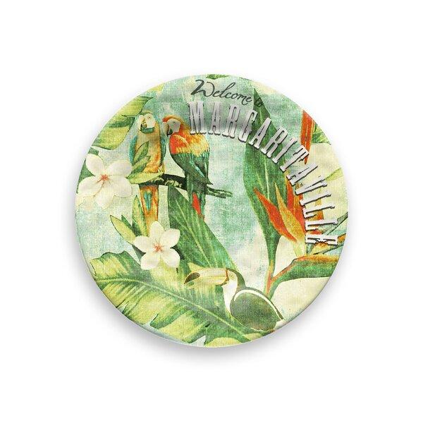 Margaritaville Vintage Tropical Melamine 8.5 Salad Plate (Set of 6) by Margaritaville