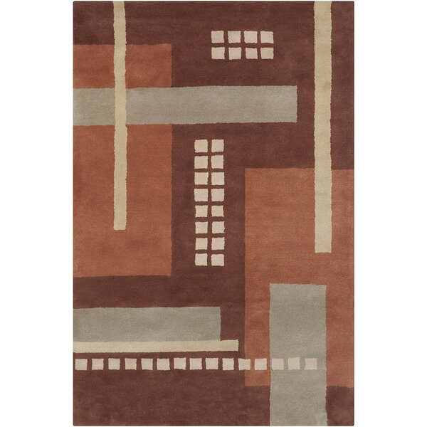Quinney Hand Tufted Wool Brown/Gray Area Rug by Latitude Run