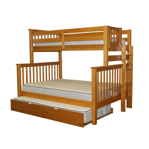 Treva Twin Over Full Standard Bed with Trundle by Harriet Bee