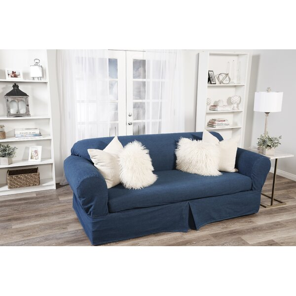 Skirted Box Cushion Sofa Slipcover by Classic Slipcovers