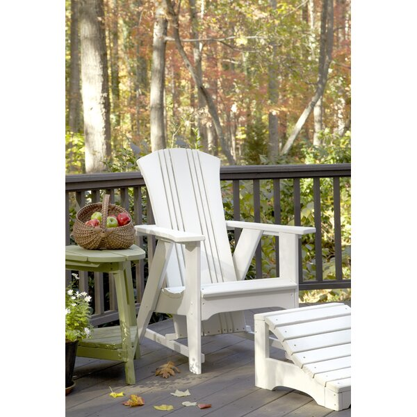 Carolina Preserves Wood Folding Adirondack Chair with Ottoman by Uwharrie Chair