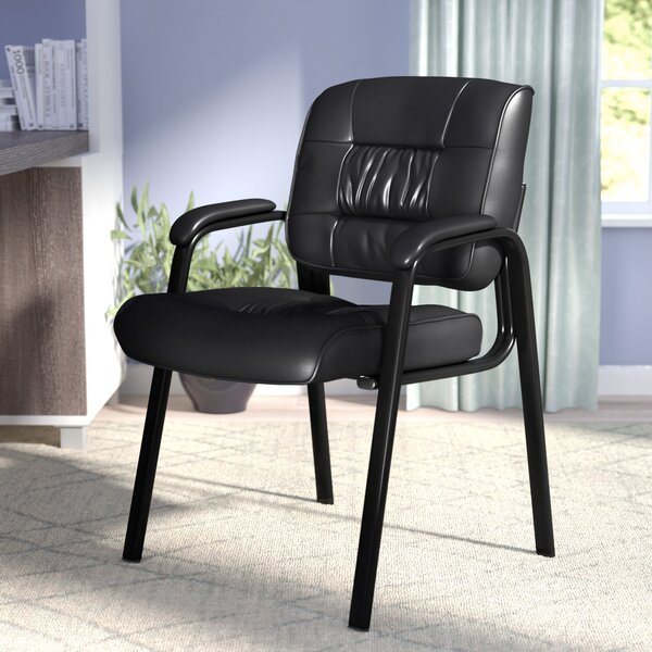 Leather Blend Guest Chair by Symple Stuff