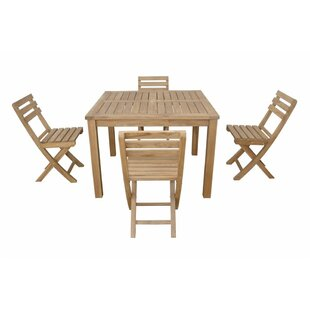 Montage Alabama 5 Piece Teak Dining Set By Anderson Teak