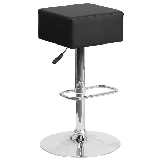 Nordman Adjustable Height Swivel Bar Stool by Orren Ellis