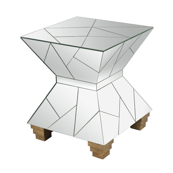 Tott and Eling Mosaic Mirrored Hourglass Accent Stool by Brayden Studio