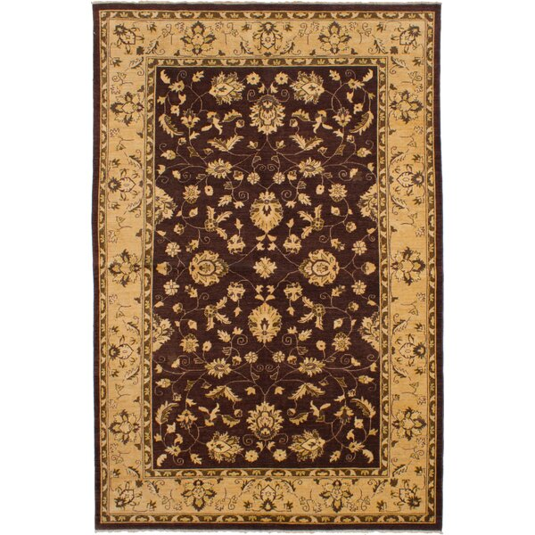 One-of-a-Kind Eirwen Hand-Knotted Wool Dark Brown Area Rug by Isabelline