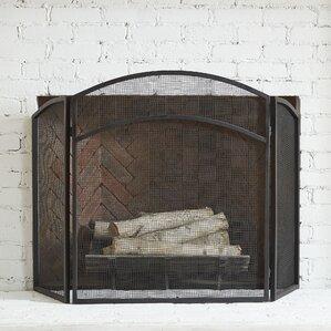Monogram Fireplace Screen All Fireplace Accessories | Wayfair