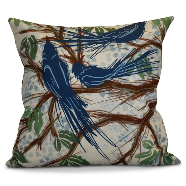 Miller Floral Outdoor Throw Pillow by Alcott Hill