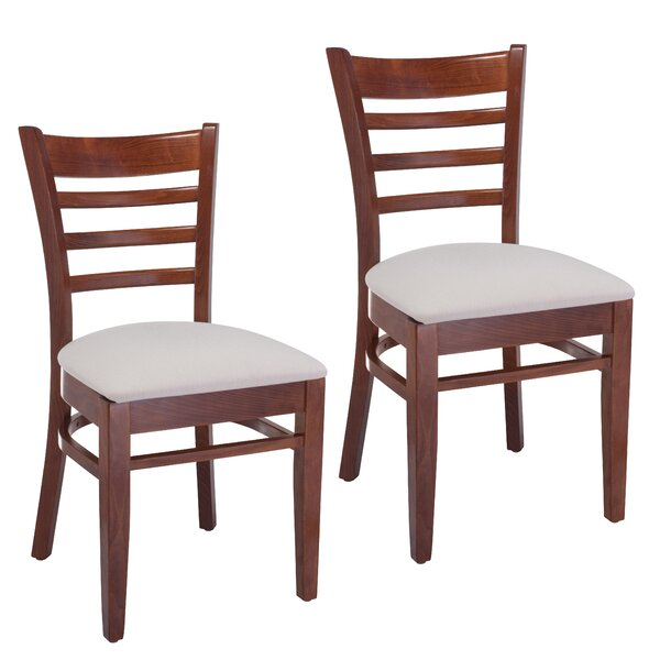 Delrick Wood Upholstered Dining Chair (Set of 2) by Red Barrel Studio