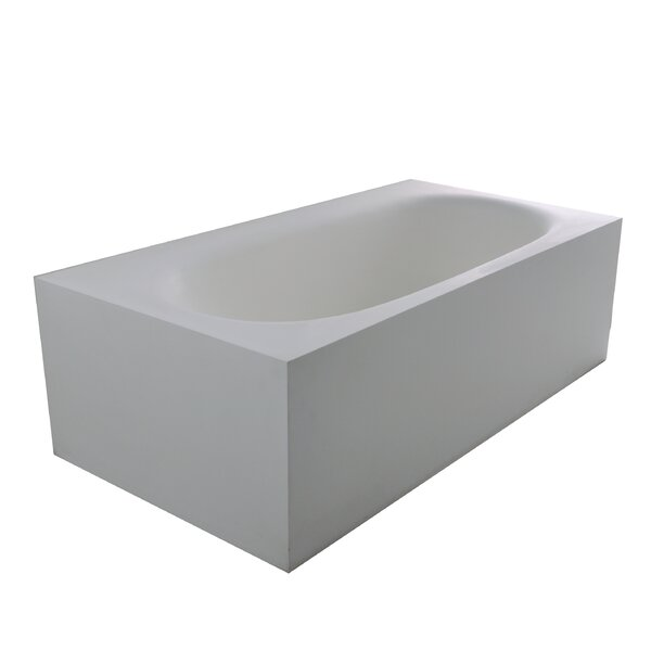 True Solid Surface Zenith 70.88 x 36.63 Soaking Bathtub by dCOR design