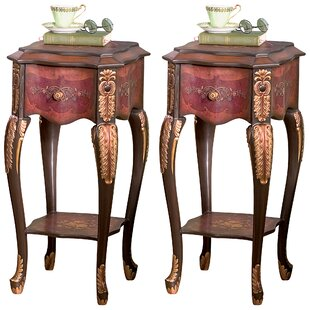 Floral Bouquet Chiffoniere End Table (Set of 2)