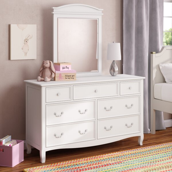 Lilia 7 Drawer Dresser with Mirror by Viv + Rae