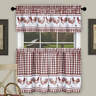 Wonderful Rooster Kitchen Curtains | Wayfair OO91