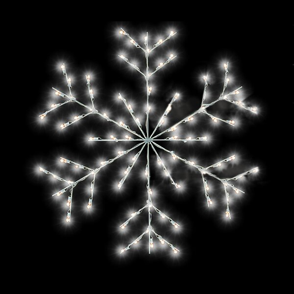 Fancy Forked Snowflake Commercial Pole Decoration 48 Lights LED String Light by The Holiday Aisle