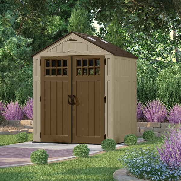 Everett 6 ft. 3 in. W x 5 ft. 5 in. D Plastic Tool Shed by Suncast