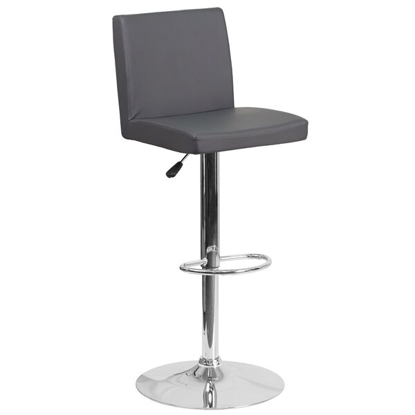 Nolen Adjustable Height Swivel Bar Stool by Orren Ellis