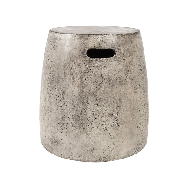 Arias Waxed Concrete Stool by Bloomsbury Market