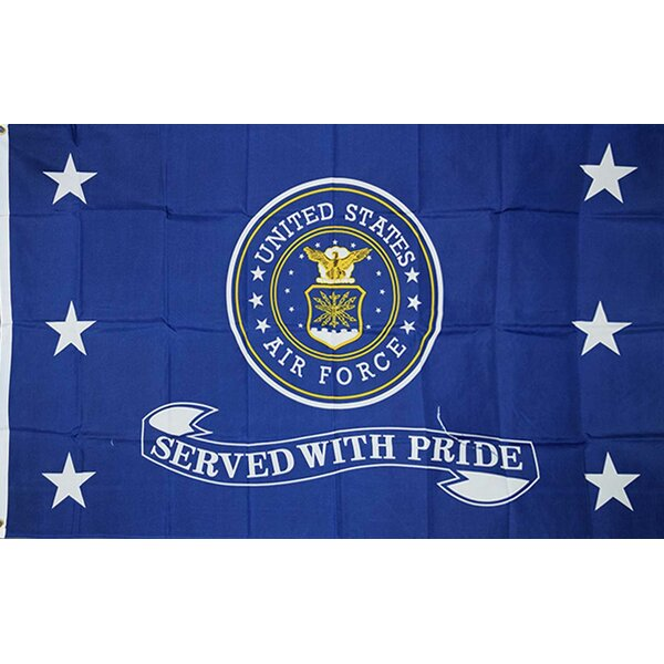 Air Force Served 2-Sided Polyester 3x5 ft Rectangle Flag by NeoPlex