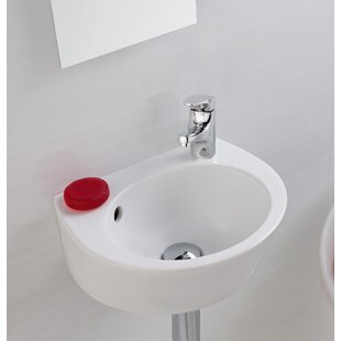 Online Reviews Universal Vitreous China 15 Wall Mount Bathroom Sink with Overflow By Bissonnet