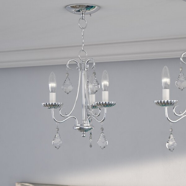 Devan 3 - Light Candle Style Classic / Traditional Chandelier By Willa Arlo Interiors