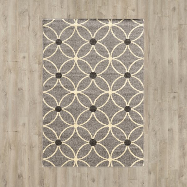 Park Row Gray Area Rug by Wrought Studio