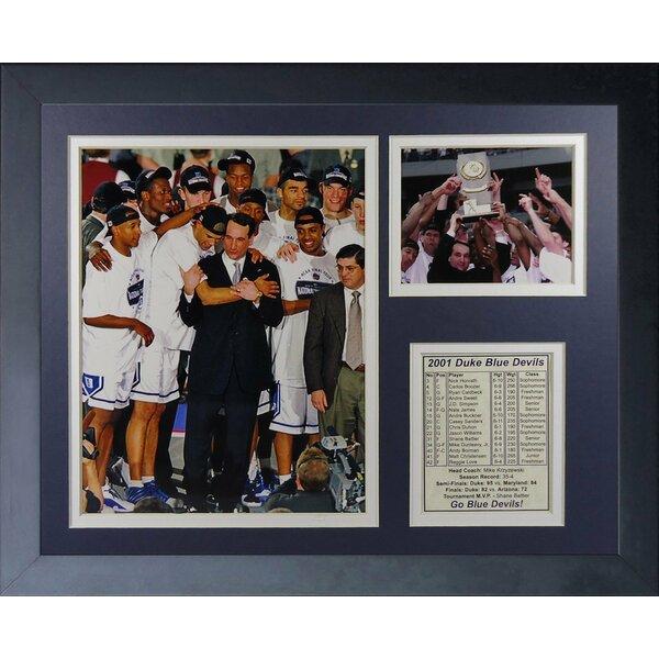 Duke University Blue Devils 2001 National Champions Podium Framed Memorabilia by Legends Never Die