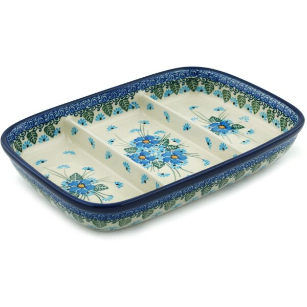 Forget Me Not Divided Serving Dish by Polmedia