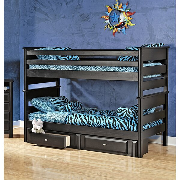 Allendale Twin Over Twin Bunk Bed with Storage (Set of 2) by Harriet Bee