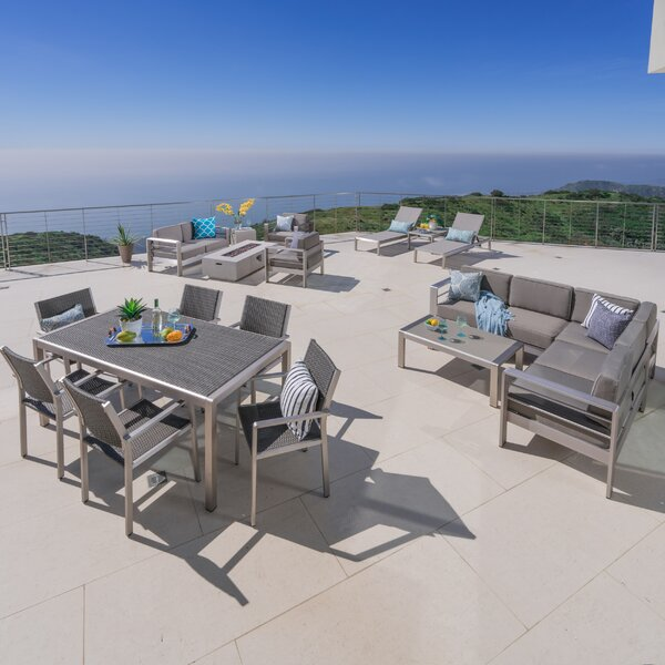 Royalston 41 Piece Complete Patio Set with Cushions by Brayden Studio
