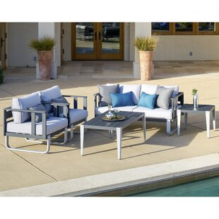 ArAgon 5 Piece Deep Seating Group with Cushions By Brayden Studio