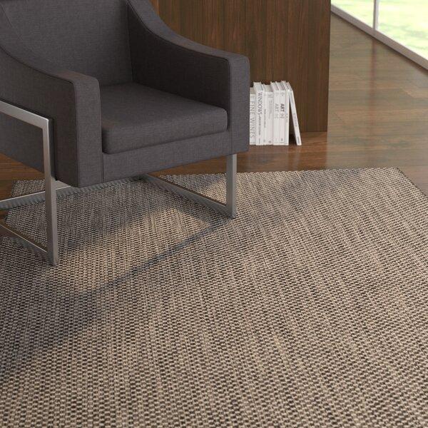 Mullen Black/Beige Area Rug by Ebern Designs