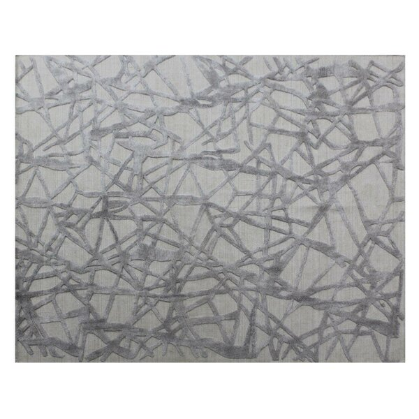 Windsor Hand-Woven Wool Silver/Gray Area Rug by Exquisite Rugs