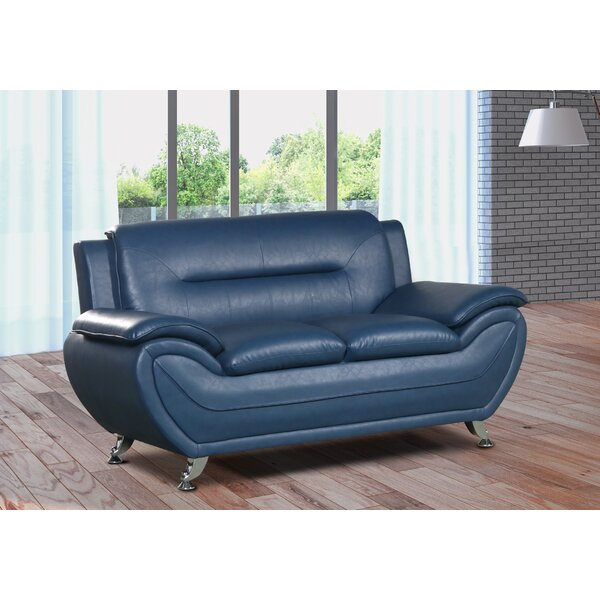 Gatto Modern Living Room Faux Loveseat by Orren Ellis
