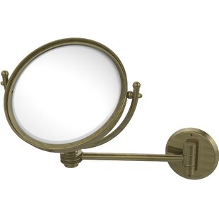 Best Reviews Wall Mounted Make-Up 2X Magnification Mirror with Dotted Detail ByAllied Brass