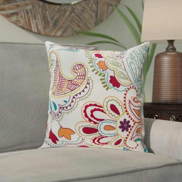 Earnhardt Colorful Paisley Throw Pillow by Bungalow Rose
