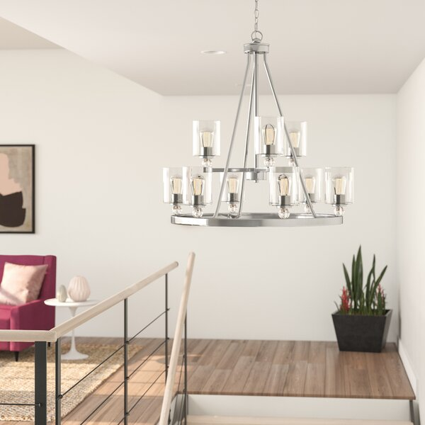 Friedman 9-Light Shaded Tiered Chandelier by Ivy Bronx Ivy Bronx