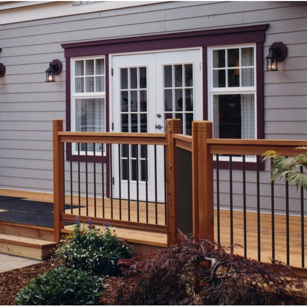 3 ft. H x 6 ft. W Traditional Deck Straight Railing by Vista Railing Systems Inc